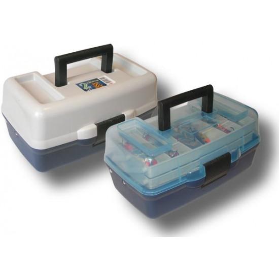 Ящик Aquatech 1702Т Ящик 2 полки (прозрачн.крышка)