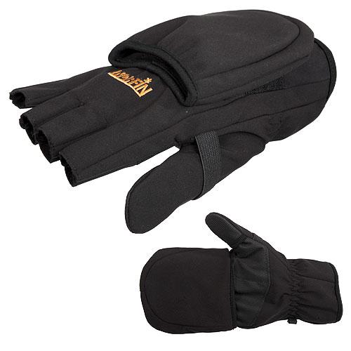 Перчатки Norfin Softshell варежки флис ветрозащитные XL