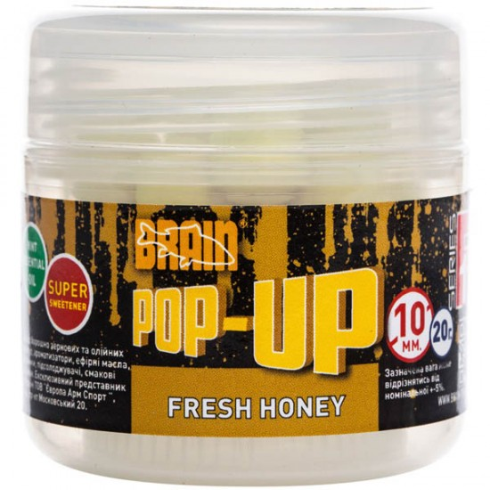 Бойлы Brain Pop-Up F1 Fresh Honey (мед с мятой) 10mm 20g