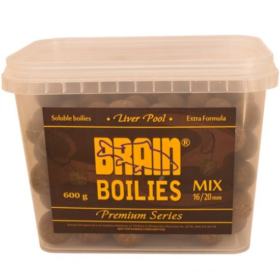 Бойли Brain Liver (печень) Soluble,mix 16-20mm,600gr