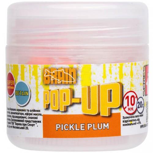 Бойлы Brain Pop-Up F1 Pickle Plum (слива с чесноком) 10m