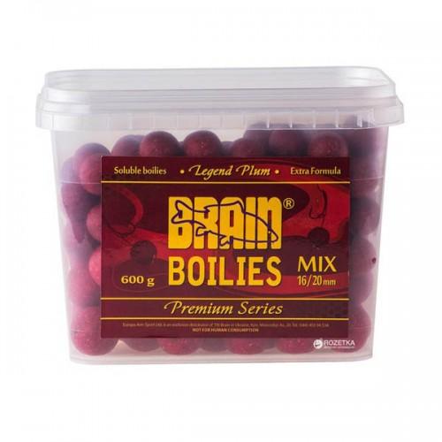Бойли Brain Plum (слива) Soluble,mix 16-20mm,600gr