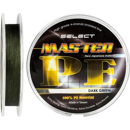 Шнур Select Master PE 150m 0.08мм 11кг темн.-зелен.