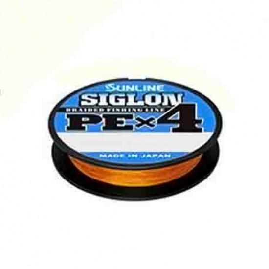 Шнур Sunline Siglon PE x4 150м (оранж.) #0.3/0.094 5LB/2,1кг